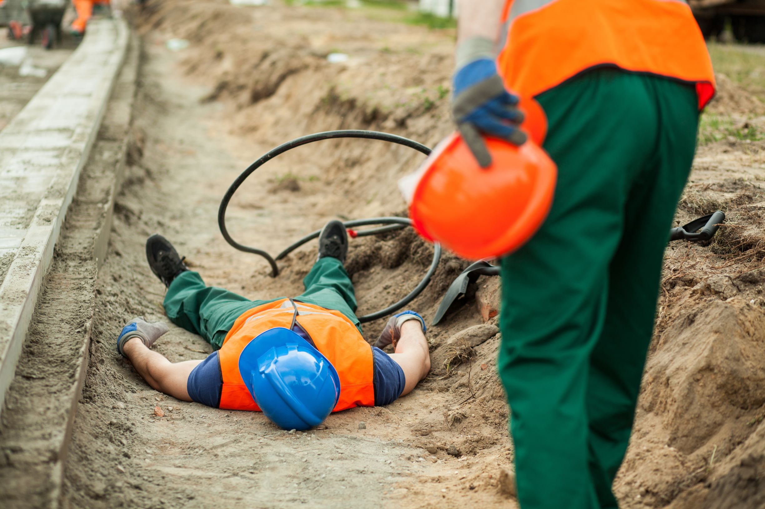 electrical safety worker down live wire
